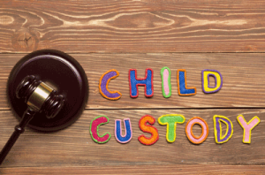 child custody spelled out in colorful letters