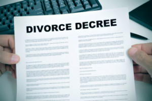 Uncotested divorce document