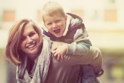 child custody happy mom and child