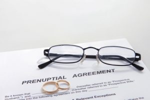 Pre and post marital agreements - prenuptial agreement and rings