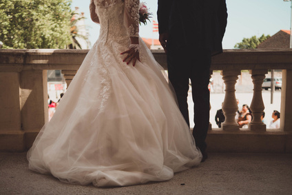couple on their wedding day pictured. Marital agreement