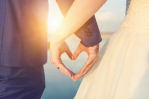 couple holding hands. Marital agreements